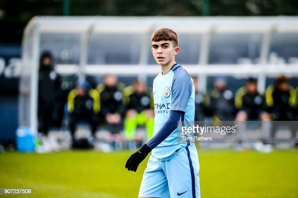 Manchester City u18 v Sunderland u18 U18 Premier League City Football Academy Manchester City's Iker Pozo in action against Sunderland