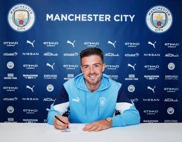 GBR: Manchester City Unveil New Signing Jack Grealish