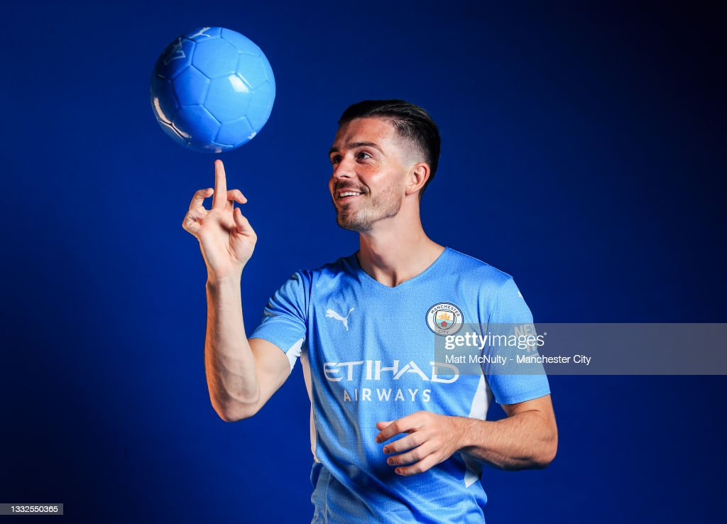 Manchester City Unveil New Signing Jack Grealish : News Photo