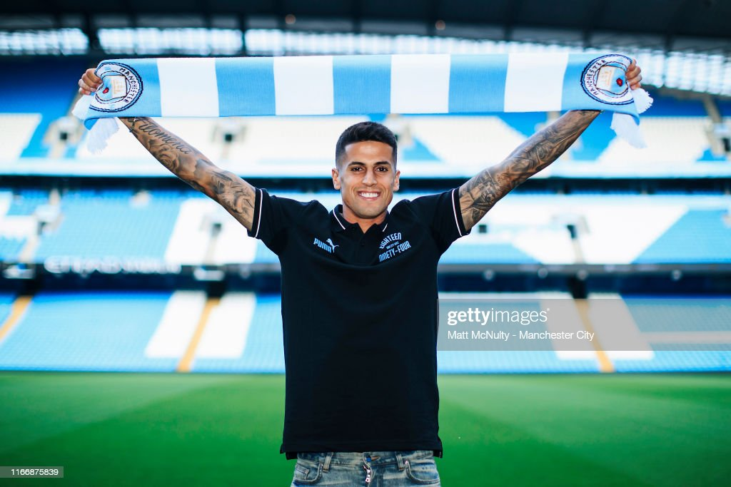 Manchester City Unveil New Signing Joao Cancelo : News Photo