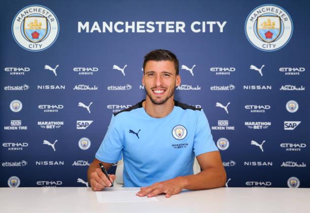 GBR: Manchester City Unveil New Signing Ruben Dias