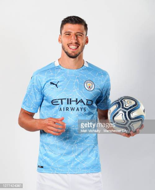 Manchester City unveil new signing Rúben Dias at the Etihad Stadium on September 29, 2020 in Manchester, England.