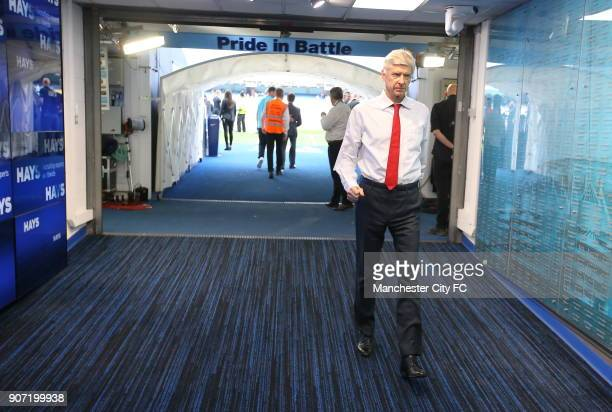 Manchester City v Arsenal Barclays Premier League Etihad Stadium Arsenal manager Arsene Wenger