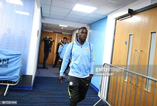 Manchester City v Arsenal Premier League Etihad Stadium Manchester City's Bacary Sagna walking to the dressing room pre match