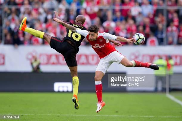 Manchester City v Arsenal PreSeason Friendly Ullevi Stadium Manchester City's Fabian Delph and Arsenal's Hector Bellerin