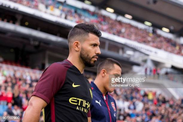 Manchester City v Arsenal PreSeason Friendly Ullevi Stadium Manchester City's Sergio Aguero and Arsenal's Alexis Sanchez
