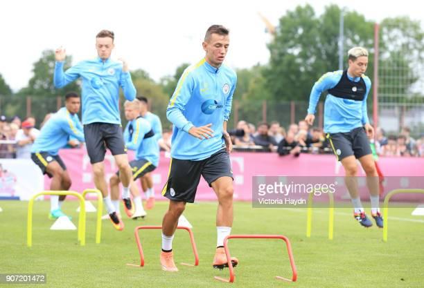 Manchester City v Bayern Munich Pre Season Friendly Allianz Arena Manchester City's Bersant Celina in training