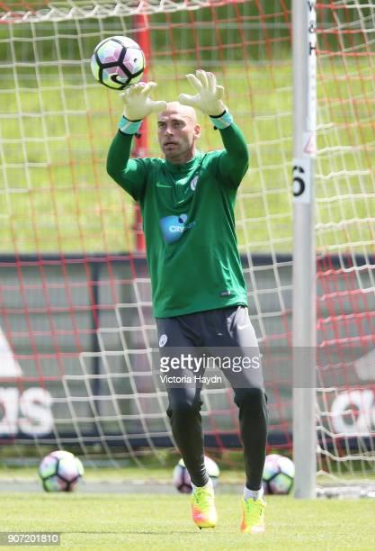 Manchester City v Bayern Munich Pre Season Friendly Allianz Arena Manchester City goalkeeper Willy Caballero in action