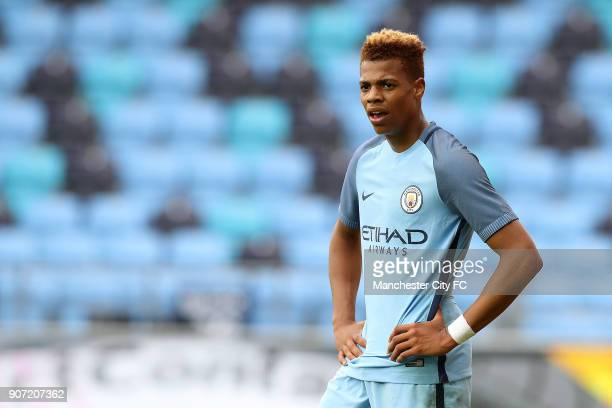 Manchester City v Borussia Monchengladbach UEFA Youth League Group C Manchester City Academy Stadium Lukas Nmecha Manchester City