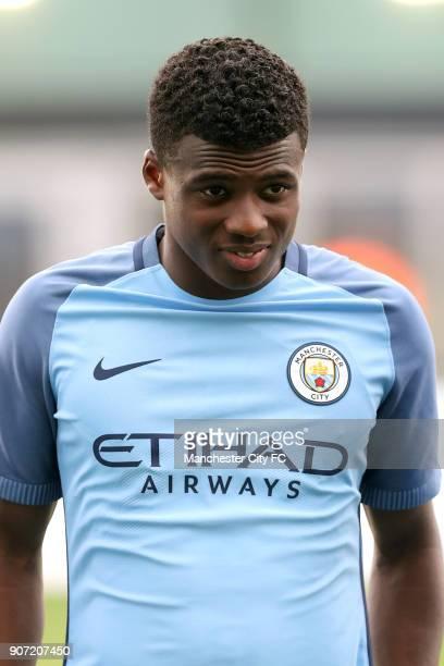 Manchester City v Borussia Monchengladbach UEFA Youth League Group C Manchester City Academy Stadium Javairo Dilrosun Manchester City