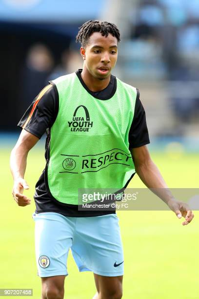 Manchester City v Borussia Monchengladbach UEFA Youth League Group C Manchester City Academy Stadium Demeaco Duhaney Manchester City