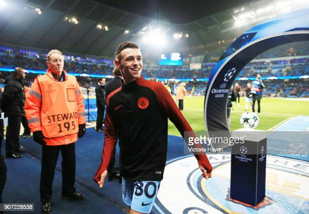 Manchester City v Celtic UEFA Champions League Group C Etihad Stadium Manchester City's Phil Foden smiles to fans on his first time with the first...