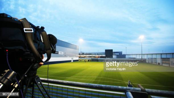 Manchester City v Celtic UEFA Champions League Group C Manchester City Training and Press Conference City Football Academy A camera is set up at...