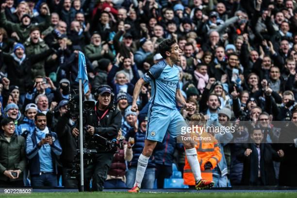 Manchester City v Chelsea Premier League Etihad Stadium Manchester City's Jesus Navas celebrates during the match against Chelsea