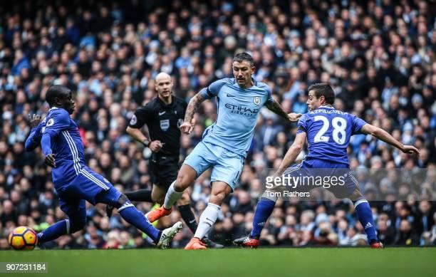 Manchester City v Chelsea Premier League Etihad Stadium Manchester City's Aleksandar Kolarov in action