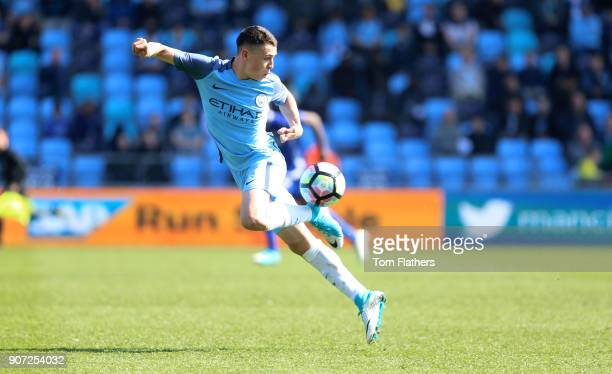 Manchester City v Chelsea U18 Premier League City Football Academy Manchester CIty's Phil Foden in action against Chelsea
