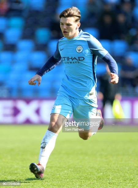 Manchester City v Chelsea U18 Premier League City Football Academy Manchester City's Bobby Duncan in action against Chelsea