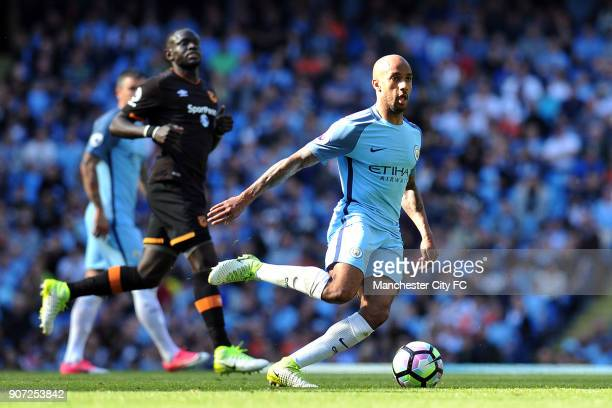 Manchester City v Hull City Premier League Etihad Stadium Manchester City's Fabian Delph in action during the Barclay's Premiership match at the...