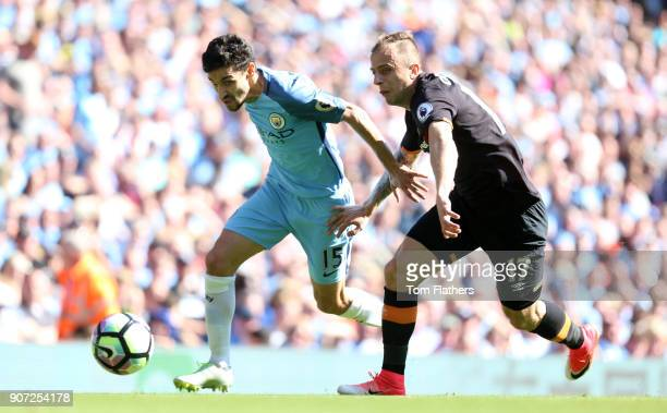 Manchester City v Hull City Premier League Etihad Stadium Manchester City's Jesus Navas in action against Hull City