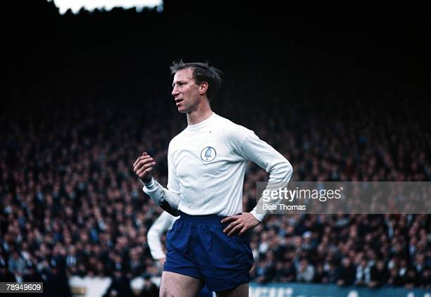 1966 Manchester City v Leeds United Leeds United's defender Jack Charlton stands with his hand on his hip