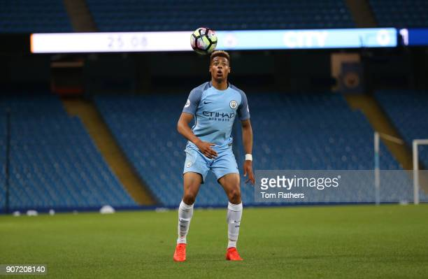 Manchester City v Leicester City Premier League 2 Etihad Stadium Lukas Nmecha of Manchester City