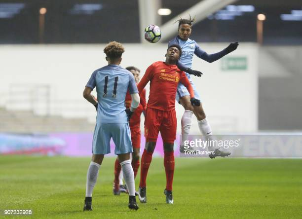 Manchester City v Liverpool FA Youth Cup Fourth Round Academy Arena Manchester City's Demeaco Duhaney in action against Liverpool in the FA Youth Cup