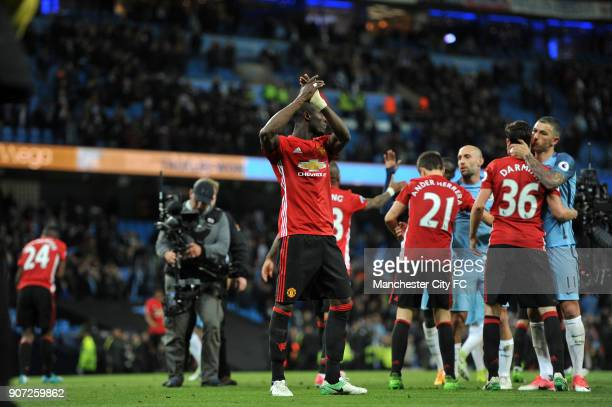 Manchester City v Manchester United Premier League Etihad Stadium Manchester United's Eric Bailly in action during the Barclay's Premiership match at...