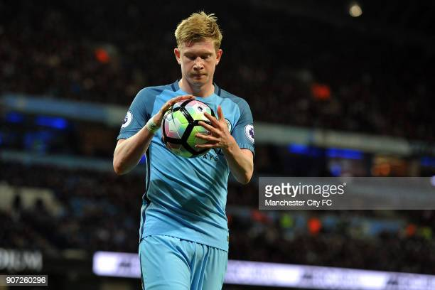 Manchester City v Manchester United Premier League Etihad Stadium Manchester City's Kevin De Bruyne in action during the Barclay's Premiership match...