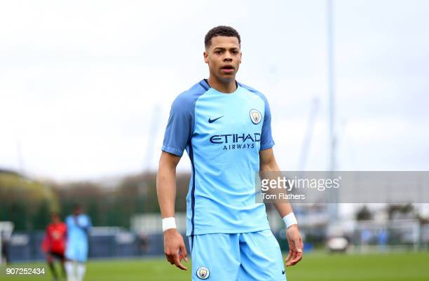 Manchester City v Manchester United U18 Premier League City Football Academy Manchester City's Lukas Nmecha in action against Manchester United