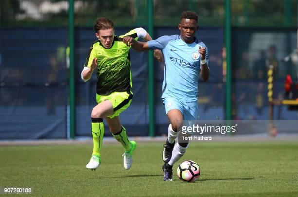 Manchester City v Reading, U18 Premier League, City Football Academy, Manchester City's Rabbi Matondo in action against Reading