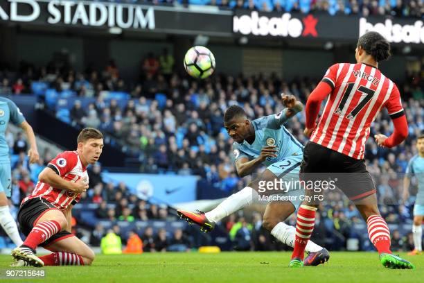 Manchester City v Southampton Premier League Etihad Stadium Manchester City's Kelechi Iheanacho and Southampton's Virgil van Dijk in action during...