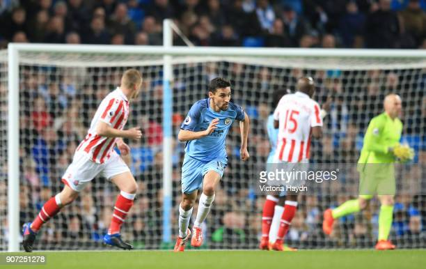 Manchester City v Stoke City Premier League Etihad Stadium Manchester City's Jesus Navas