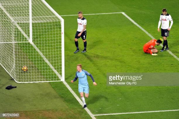 Manchester City v Tottenham Hotspur Premier League Etihad Stadium Manchester City's Kevin De Bruyne steals the ball from Tottenham Hotspur's Hugo...