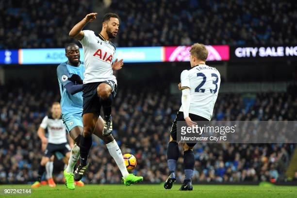 Manchester City v Tottenham Hotspur Premier League Etihad Stadium Manchester City's Yaya Toure and Tottenham Hotspur's Mousa Dembele and Christian...
