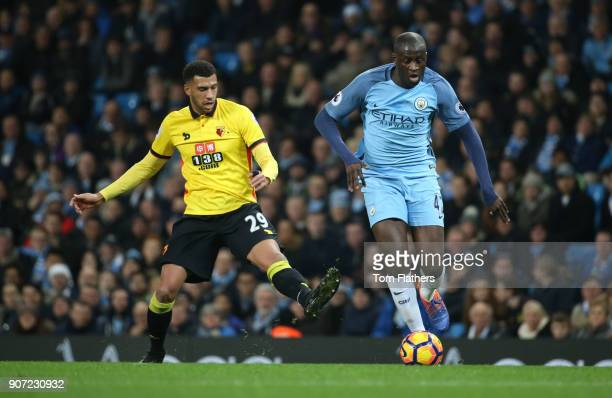 Manchester City v Watford Premier League Etihad Stadium Manchester City's Yaya Toure in action against Watford's Etienne Capoue