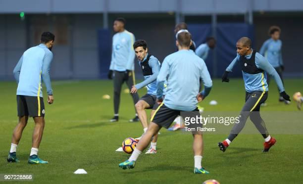 Manchester City v Watford Premier League Manchester City Training City Football Academy Manchester City's Jesus Navas in training
