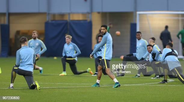 Manchester City v Watford Premier League Manchester City Training City Football Academy Manchester City's Gael Clichy in training