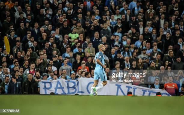 Manchester City v West Bromwich Albion Premier League Etihad Stadium Manchester City's Pablo Zabaleta in action