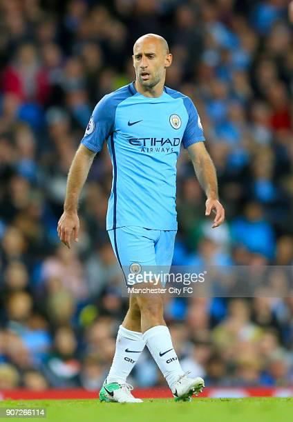 Manchester City v West Bromwich Albion Premier League Etihad Stadium Pablo Zabaleta Manchester City