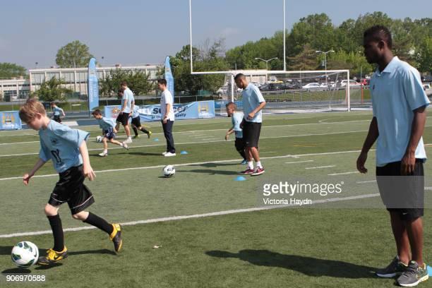 Manchester City visit Staten Island New York Edin Dzeko Samir Nasri Gael Clichy Abdul Razak at Staten Island United where Manchester City Football...
