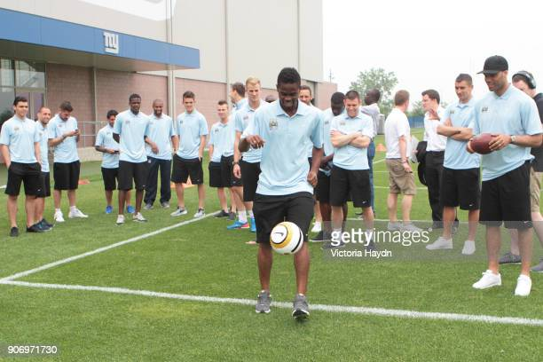 Manchester City visit the New York Giants Timex Perfornace Centre Manchester City's Abdul Razak shows off his skills