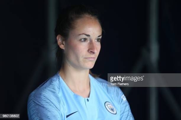 Manchester City Women Unveil New Signing Tessa Wullaert at Manchester City Football Academy on June 21 2018 in Manchester England