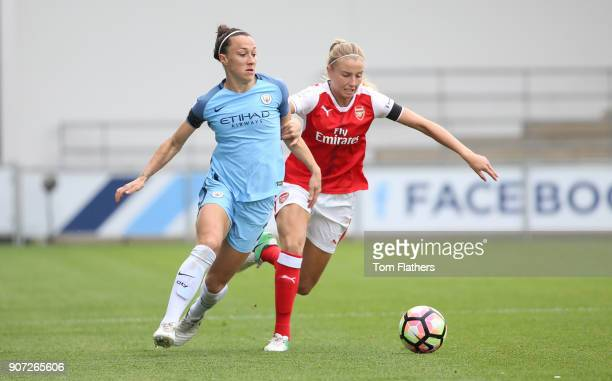 Manchester City Women v Arsenal Ladies FA Women's Super League Spring Series Academy Stadium Manchester City's Lucy Bronze in action against Arsenal
