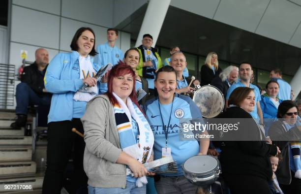 Manchester City Women v Chelsea Ladies Women's Super League Academy Stadium Manchester City Women fans ahead of Manchester City Women's fixture...