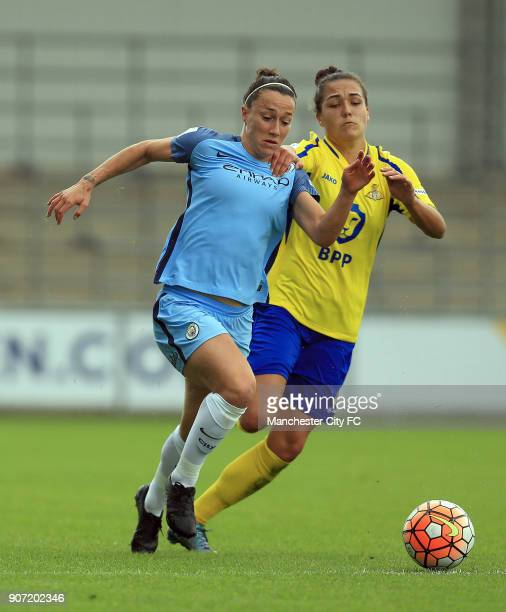 Manchester City Women v Doncaster Rovers Belles FA WSL Continental Tyres Cup City Academy Stadium Manchester City Women's Lucy Bronze and Doncaster...