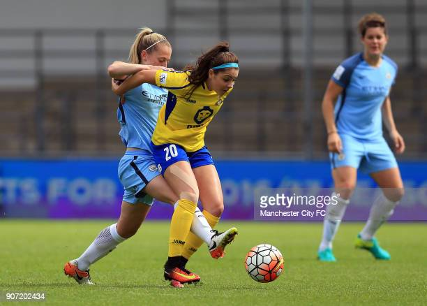 Manchester City Women v Doncaster Rovers Belles FA WSL Continental Tyres Cup City Academy Stadium Manchester City Women's Keira Walsh and Doncaster...