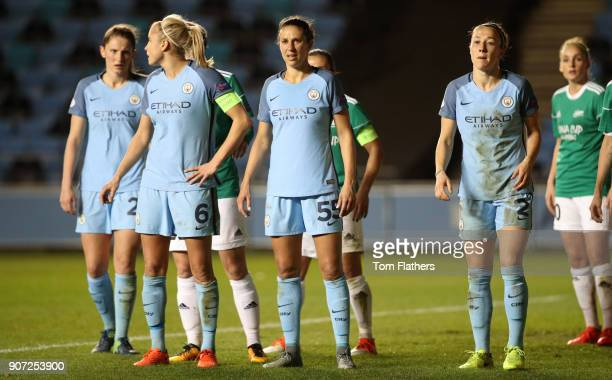 Manchester City Women v Fortuna Hjorring Women UEFA Women's Champions League Quarter Final Second Leg Academy Stadium Manchester City's Steph...