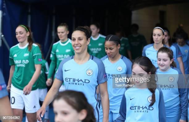 Manchester City Women v Fortuna Hjorring Women UEFA Women's Champions League Quarter Final Second Leg Academy Stadium Manchester City's Carli Lloyd