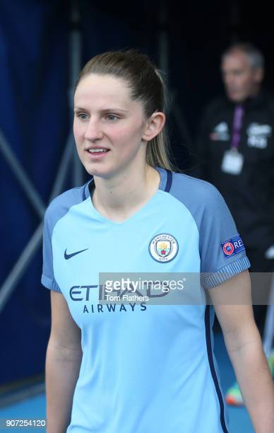 Manchester City Women v Fortuna Hjorring Women UEFA Women's Champions League Quarter Final Second Leg Academy Stadium Manchester City's Abi McManus