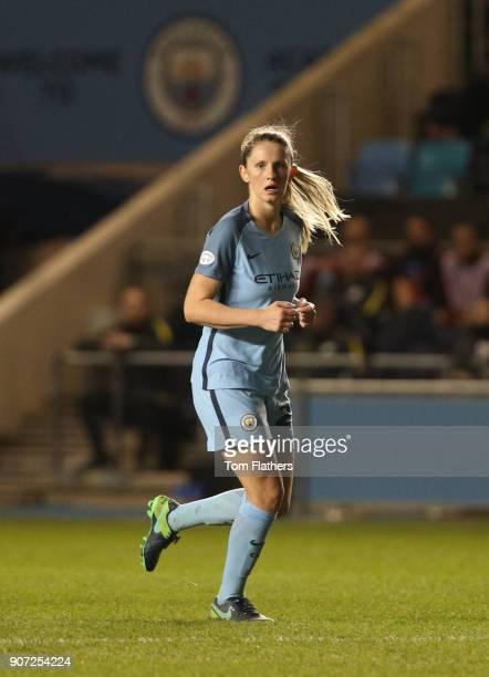 Manchester City Women v Fortuna Hjorring Women UEFA Women's Champions League Quarter Final Second Leg Academy Stadium Manchester City's Abi McManus...